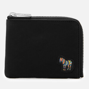 Paul Smith Men's Corner Zip Zebra Wallet - Black