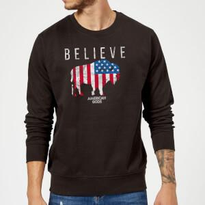 American Gods Believe In Bull Pullover - Schwarz