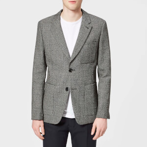 AMI Men's Half Lined 2 Button Jacket - Black/Grey