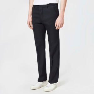 AMI Men's Straight Fit Trousers - Navy