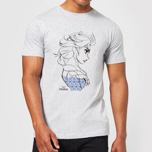 Die Eiskönigin Elsa Sketch Strong Herren T-Shirt - Grau