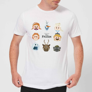 Frozen Emoji Heads Men's T-Shirt - White
