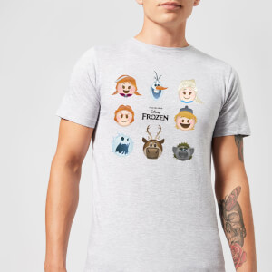 Frozen Emoji Heads Men's T-Shirt - Grey