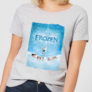 Disney Frozen Snow Poster Women's T-Shirt - Grey