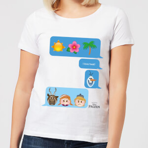 Disney Frozen I Love Heat Emoji Women's T-Shirt - White