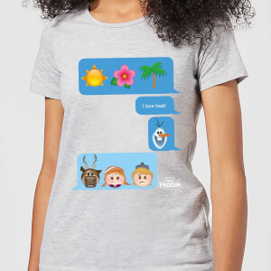 Disney Frozen I Love Heat Emoji Women's T-Shirt - Grey