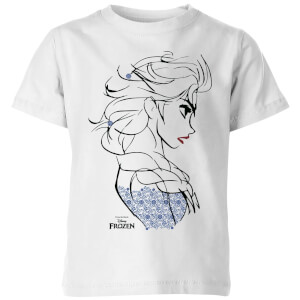 Disney Frozen Elsa Sketch Strong Kids' T-Shirt - White