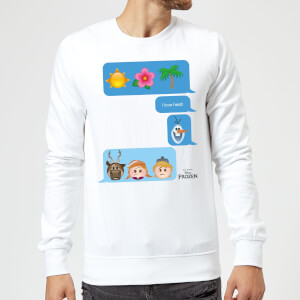 Disney Frozen I Love Heat Emoji Sweatshirt - White