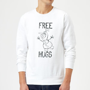 Disney Frozen Olaf Free Hugs Sweatshirt - White