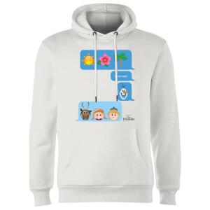 Disney Frozen I Love Heat Emoji Hoodie - White