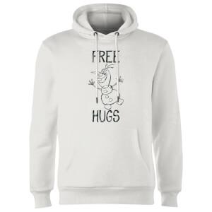 Disney Frozen Olaf Free Hugs Hoodie - White
