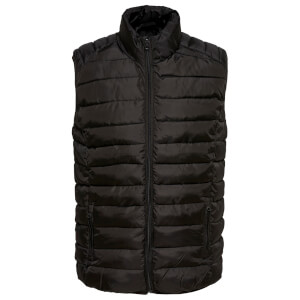 Only & Sons Men's Liner Puffer Gilet - Black