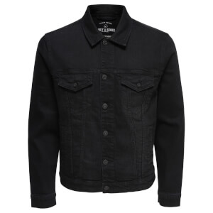 Only & Sons Men's Coin Denim Jacket - Black Denim