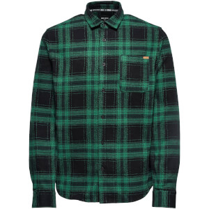 Only & Sons Men's Oconnor Heavy Brushed Check Shirt - Foliage Green