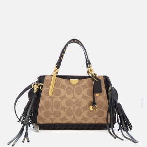 Coach 1941 Women's Dreamer 21 Signature Tassel Bag - Tan/Black