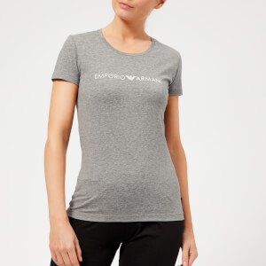 Emporio Armani Women's Iconic Logoband T-Shirt - Dark Melange Grey