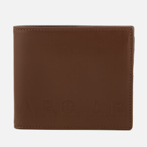 A.P.C. Men's Portfeuille Aly Logo Wallet - Marron Fonce