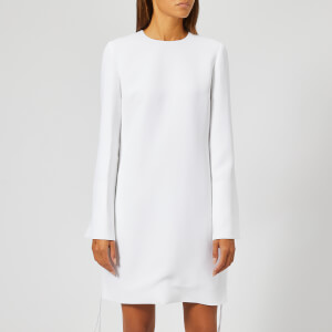 Victoria, Victoria Beckham Women's Soft Crepe Tie Cuff Shift Dress - White