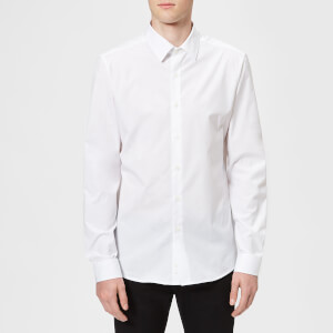 Versace Collection Men's Patterned Long Sleeve Shirt - Bianco