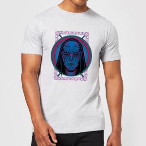 Harry Potter Neon Death Eater Mask Men's T-Shirt - Grey