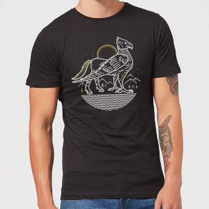 T-Shirt Homme Dessin au Trait Buck - Harry Potter - Noir