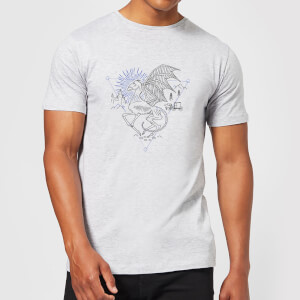 Harry Potter Thestral Line Art Men's T-Shirt - Grey