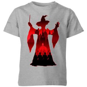 T-Shirt Enfant Silhouette de Minerva McGonagall - Harry Potter - Gris