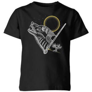 Harry Potter Werewolf Line Art Kinder T-shirt - Zwart