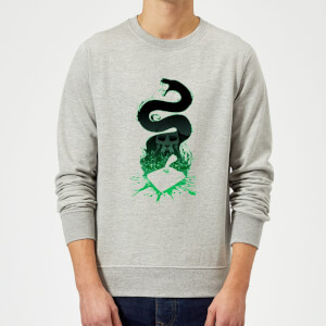 Harry Potter Basilisk Silhouette Sweatshirt - Grey