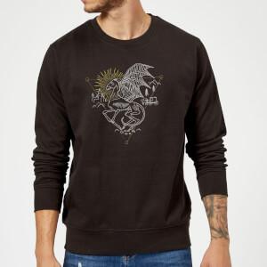 Harry Potter Thestral Line Art Sweatshirt - Black