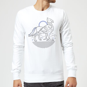 Harry Potter Buckbeak Line Art Sweatshirt - White
