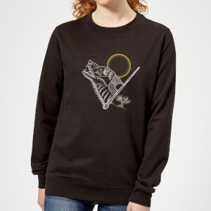 Harry Potter Werewolf Line Art Women's Sweatshirt - Black