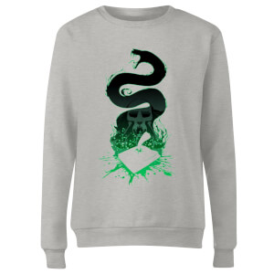 Harry Potter Basilisk Silhouette Women's Sweatshirt - Grey