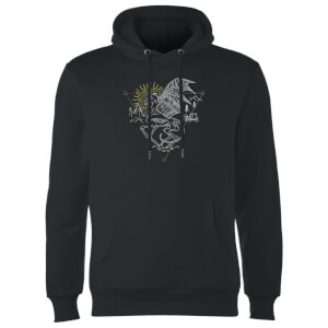 Harry Potter Thestral Line Art Hoodie - Black