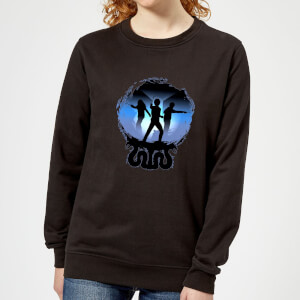 Harry Potter Silhouette Attack Women's Sweatshirt - Black