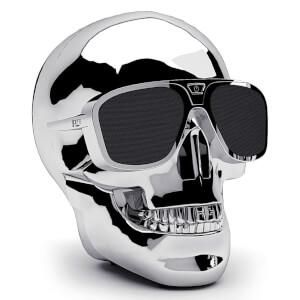 Jarre AeroSkull XS + Bluetooth Portable Speaker - Chrome Silver