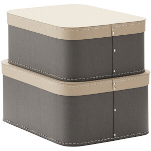 Kids Concept Storage Box (2 Set) - Grey