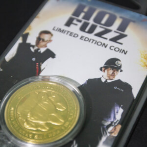 "Pièce de Monnaie de Collection Hot Fuzz ""For The Greater Good"" - Édition Limitée Or (1000 exemplaires)"