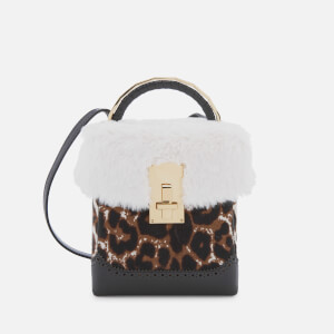 The Volon Women's Great L. Box Fur Bag - Leopard