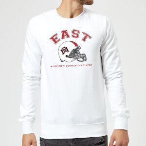 East Mississippi Community College Helmet Sweatshirt - White