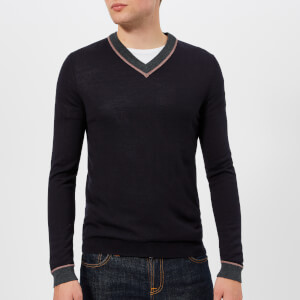 Ted Baker Men's Coookie V-Neck Knitted Jumper - Navy