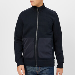 Ted Baker Men's Narn Quilted Funnel Neck Jacket - Navy