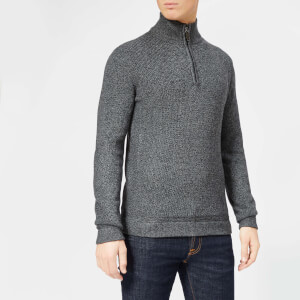 Ted Baker Men's Lohas Half Zip Funnel Knitted Jumper - Charcoal