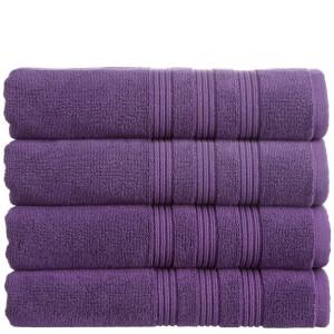 Christy 100% Combed Cotton 4 Piece Towel Bale (675gsm) - Damson