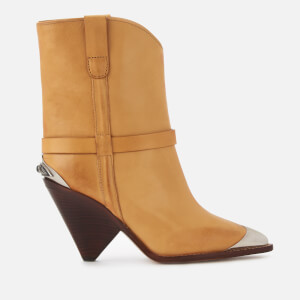 Isabel Marant Women's Lamsy Western Boots - Natural