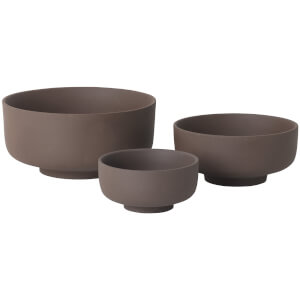 Ferm Living Sekki Bowls - Rust (Set of 3)