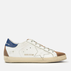 Golden Goose Deluxe Brand Women's Superstar Trainers - White/Blue/White Star