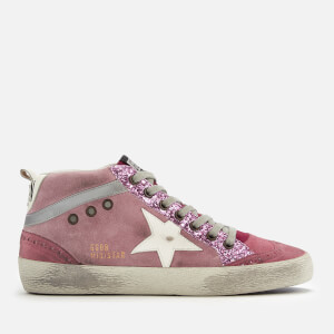 Golden Goose Deluxe Brand Women's Mid Star Suede Trainers - Pink/White Star