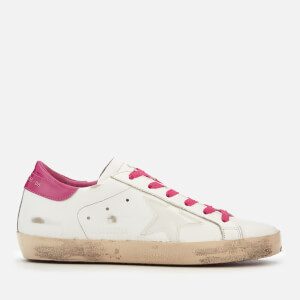 Golden Goose Deluxe Brand Women's Superstar Trainers - White/Fuchsia Glow