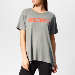Calvin Klein Performance Women's Short Sleeve Logo T-Shirt - Medium Grey Heather